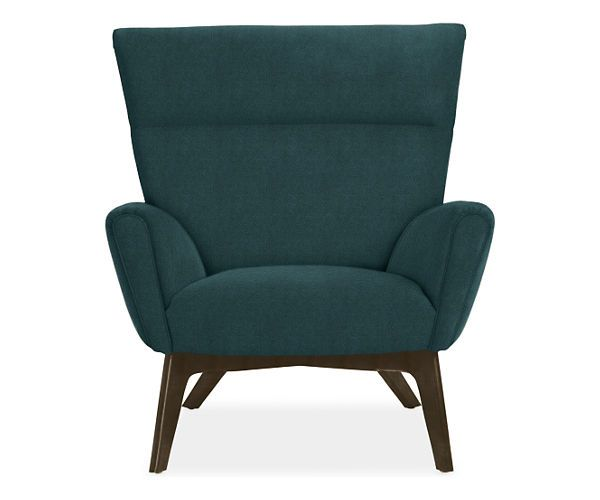 Living Room Seating Dimensions: Boden Chair & Ottoman In Vick Fabric