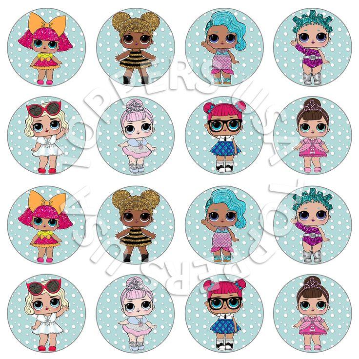 16x Edible Cupcake Toppers LOL Surprise Dolls cake decorating decor birthday par… – LOL birthday ideas