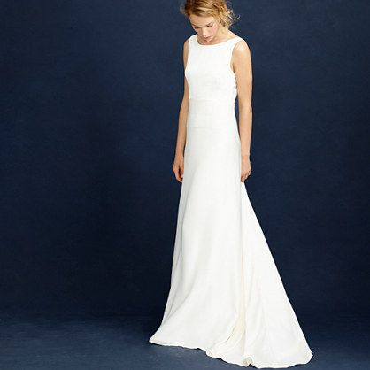 this is exactly what I want... simple, understated, classy... I wish i could go try it on right now! J.Crew+-+Percy+gown