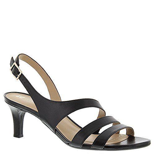 Naturalizer Women's Taimi Sandal,Black Leather,US 6.5 M
