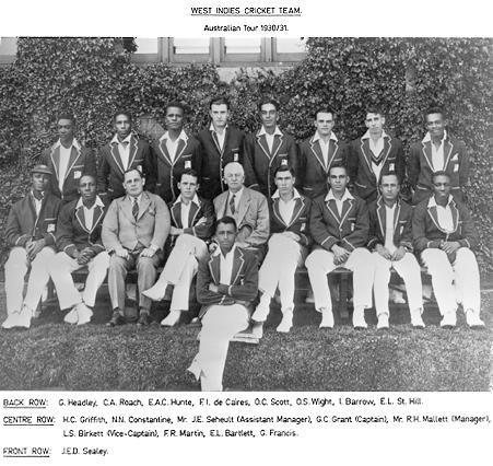 West Indies Cricket Team circa 1930/31
