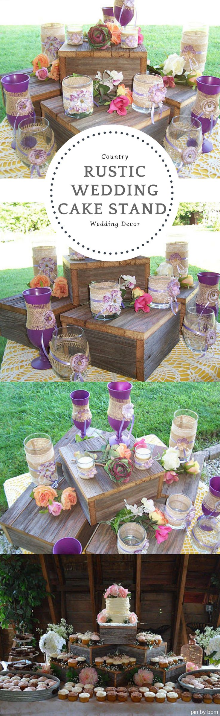 Gorgeous wooden Cake Stand for my Rustic Country wedding! from Etsy #weddingcakestand #ad #countrywedding #rusticwedding #bbmaff