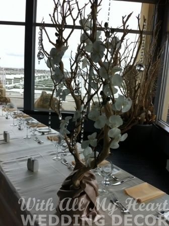 Manzanita Branches with Orchids