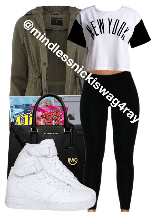 """""""In New York."""" by mindlessnickiswag4ray ❤ liked on Polyvore featuring Dorothy Perkins, Michael Kors, :CHOCOOLATE and NIKE"""
