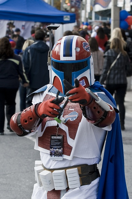 Now that's a dedicated Bills (and Star Wars) fan. Via Buffalo Bills.. cuz why shouldn't we be armored? :)