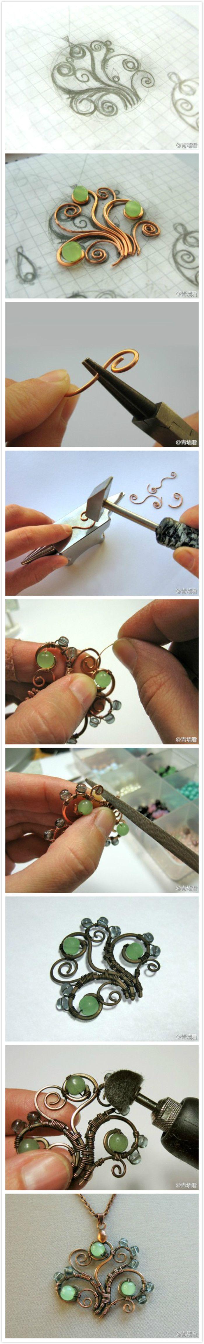design steps for ornate jewellery pendant 6464
