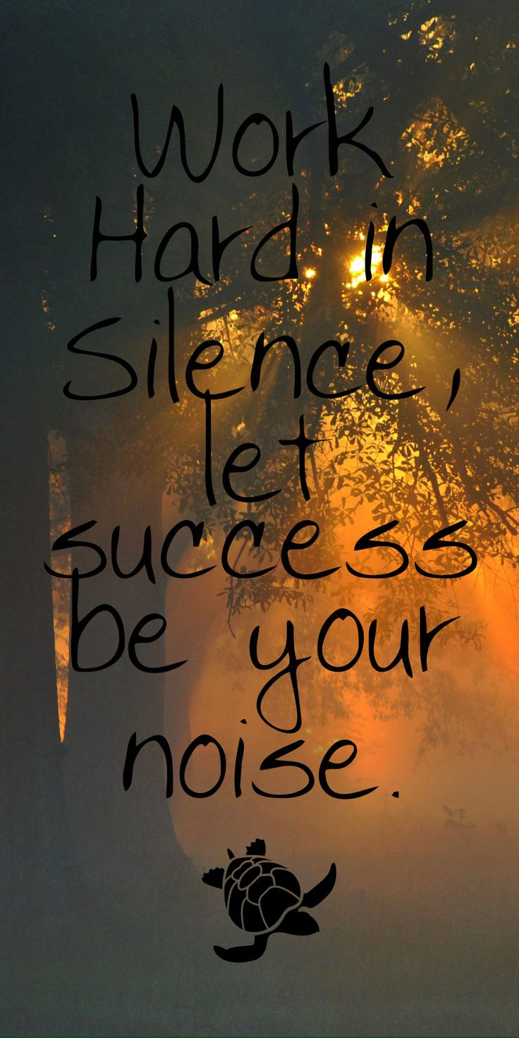Work hard in silence, let success be your noise. #quoteoftheday #success #silence