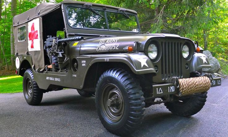 Willys Jeep For Sale >> 1955 Willys M170 Jeep Frontline Ambulance for sale on eBay - Autoweek | Vintage/Classic cars ...