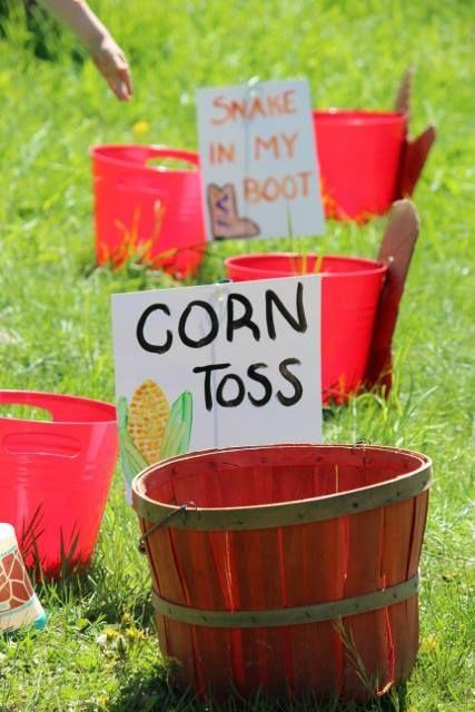 Corn Toss game!