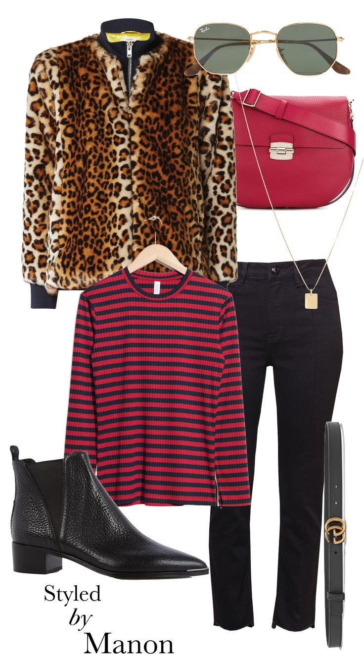 More prints, combine prints, different prints, leopard and striped, red colors - Outfit Styled by Manon #whattowear