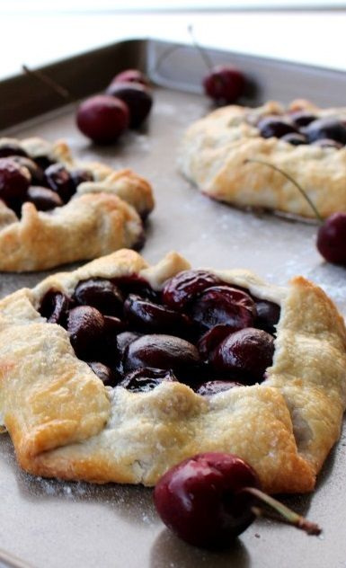 Rustic Cherry Tarts Recipe.  It might not be nourishing....but it sure is pretty (and delish)