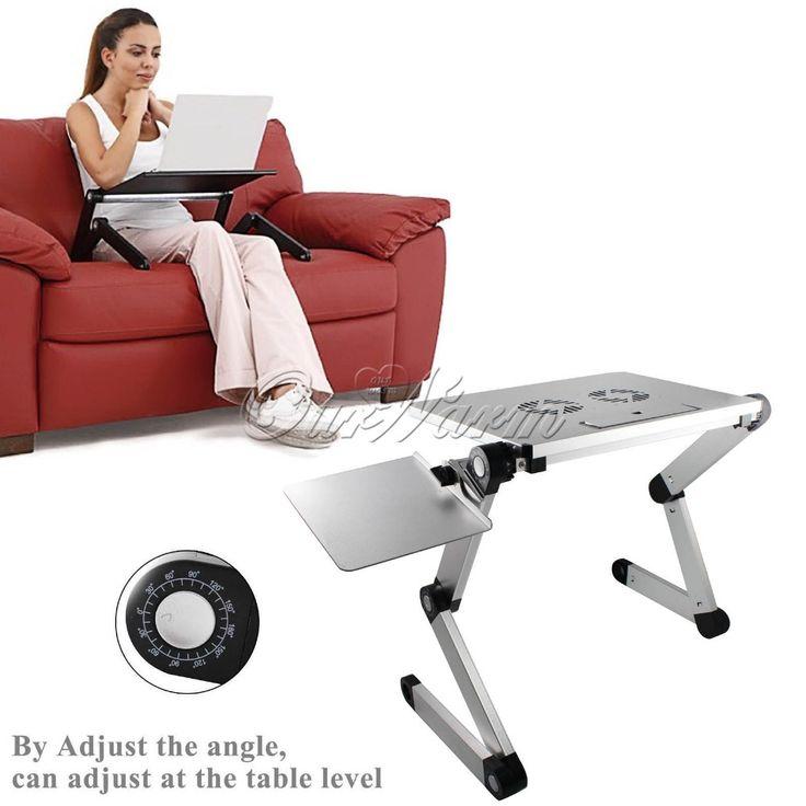 Argent 360 grau réglable T3 aluminium PC portable ordinateur portable pliant Desk Stand tableau tapis de souris Dissipation de la chaleur ventilateur(China (Mainland))