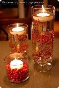 xmas candles - looks beautiful