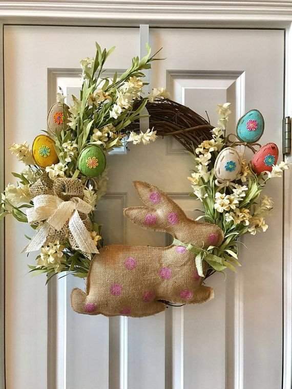 paques pques couronne lapin pques printemps toile porte dentre pques dcor grapevine berry wreath grapevine