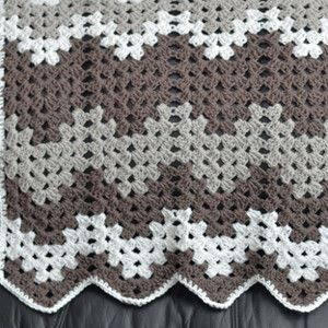 Gray Grandma Baby Blanket - This simply crochet baby blanket is just like grandma would make
