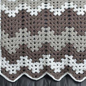 Gray Grandma Baby Blanket - This simply crochet baby blanket is just like grandma would make