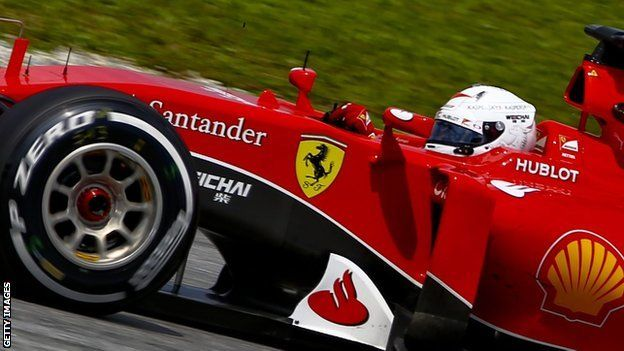 R1: Sebastian Vettel took a sensational maiden victory for Ferrari as he won a straight fight with Lewis Hamilton's Mercedes at the Malaysian Grand Prix. Vettel, who joined Ferrari this year as Fernando Alonso's replacement, won a strategic battle as Mercedes struggled with tyres in the tropical heat