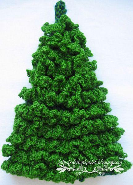 пушистая елочка вязаная крючком схема ёлочные игрушки вязание