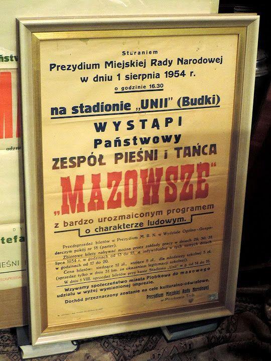 Afisz zespołu MAZOWSZE - jeden z pierwszych.
