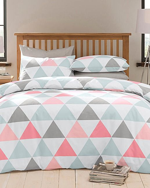 Triangle Geometric Duvet Cover Set | Home Essentials