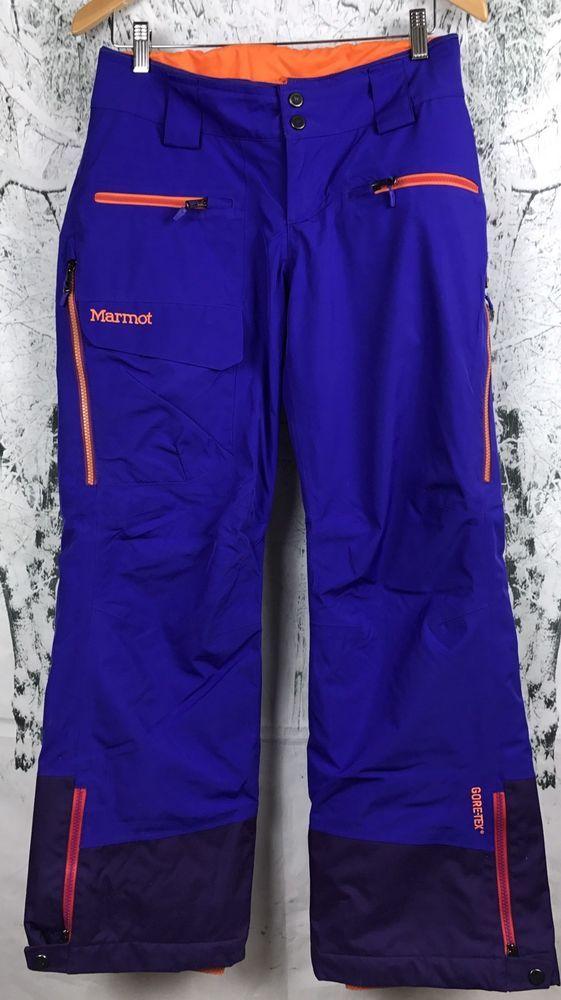 c109019ab21531 MARMOT Purple Orange Neon Ski Snowboard Pants Gore-Tex Waterproof XS Women s    eBay
