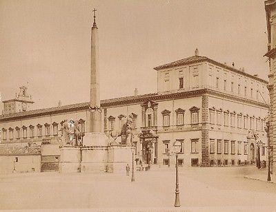 Quirinal-Palace-Place-Roma-Italy-old-Alinari-Photo-1890-Palazzo-Palais-Rome