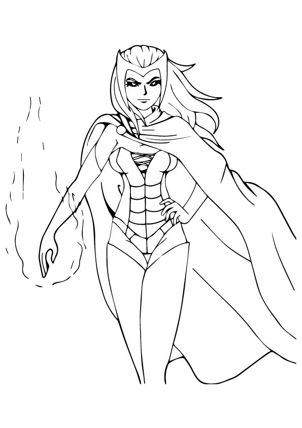 Scarlet Witch Witch Coloring Pages Avengers Coloring Avengers Coloring Pages