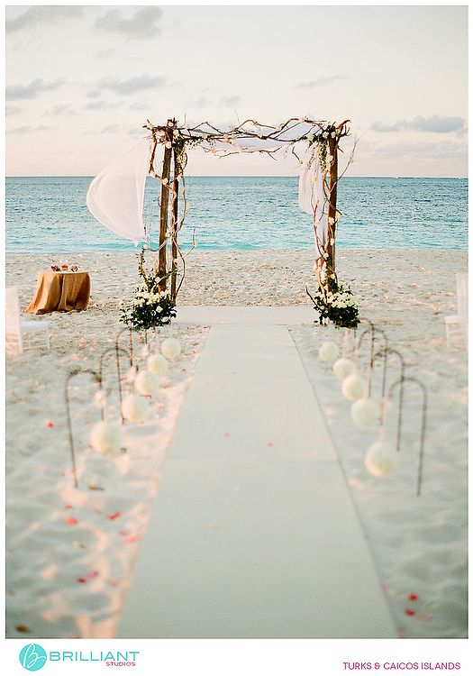 Driftwood arch for the beach ceremony