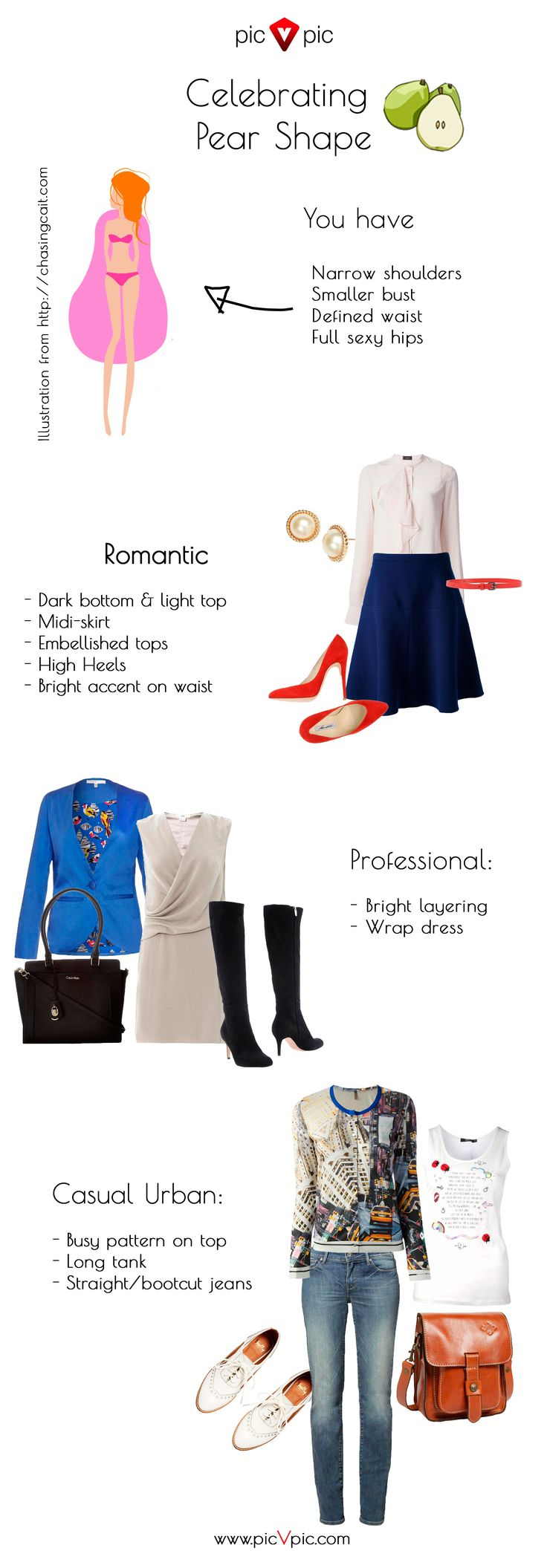 Wardrobe essentials for pear-shaped ladies