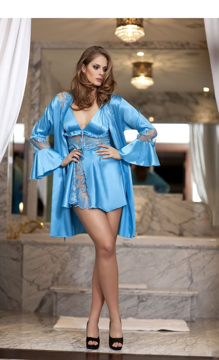 Bondy Satin Amp Lace Chemise Satin Robes Pinterest