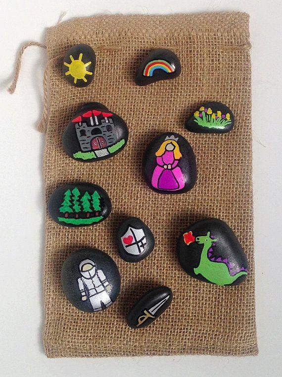Story Stones Princess Story Stones by WishesAndWonderment on Etsy