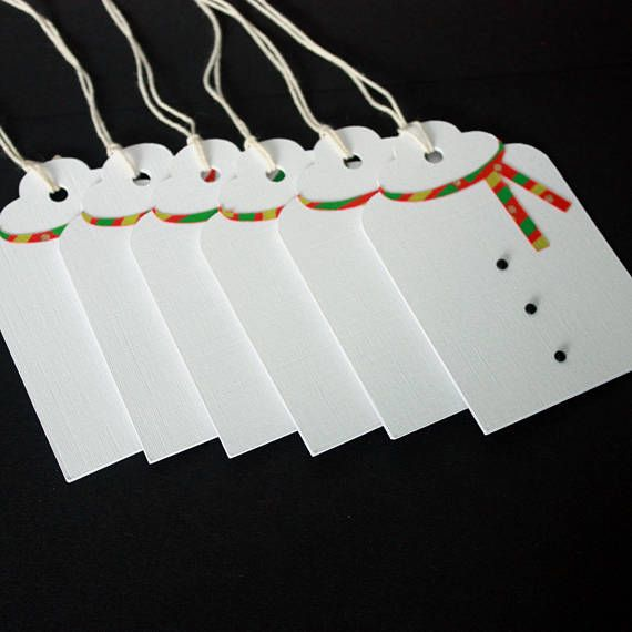 Handmade Christmas gift tags Pack of 6 snowman