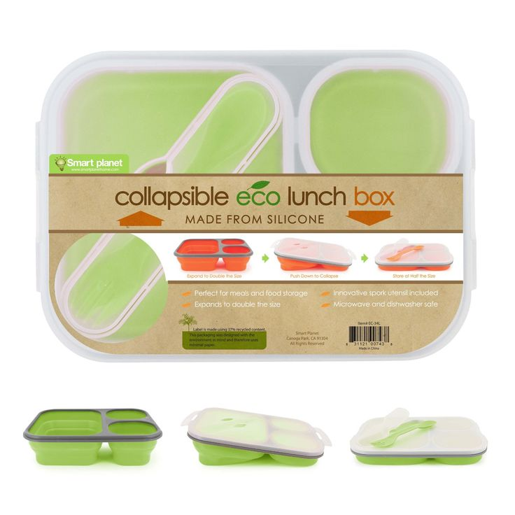 Smart Planet Eco Silicone Collapsible Lunch Box