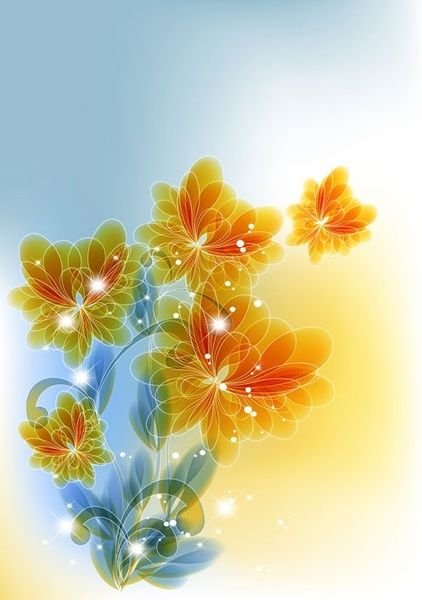 trend flowers background