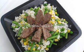 Velká kuchařka: Rýžový salát s hovězím a zeleninou