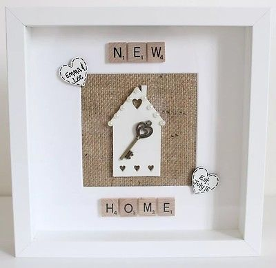 Personalised First New Home Scrabble Frame Housewarming Gift Wedding Family