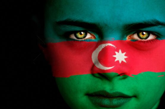 Azerbaijan Flag Boy