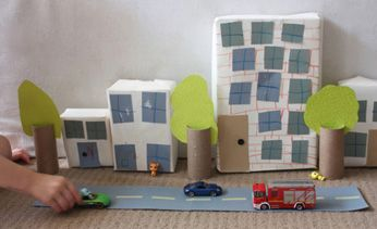 Build a box city: Community Building, Boxes Cities, Decor Ideas, Cardboard Boxes, Cardboard Cities, For Kids, Kids Activities, Kids Crafts, Recycled Cardboard