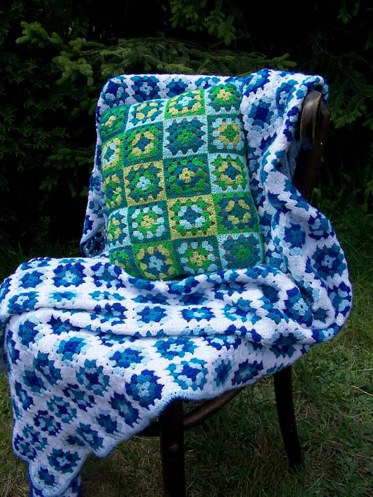 handmade crochet cushion cover cushion granny square