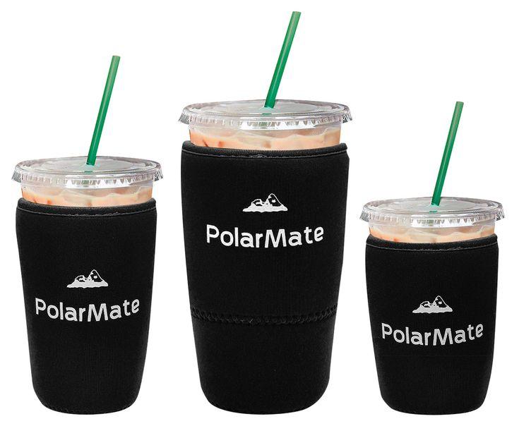 3 pack reusable iced coffee sleeve insulator