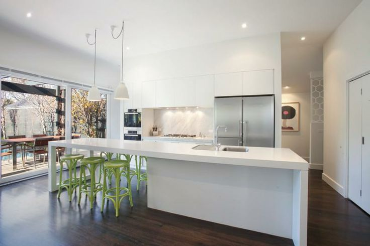 Kitchen with butlers pantry behind home ideas for Galley kitchen with dining area