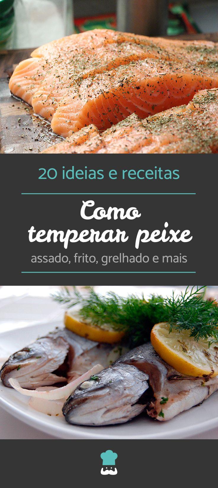 Confira 20 ideias e receitas para temperar peixe! #temperarpeixe #cozinharpeixe #peixe #receita #comida #receitacaseira #tempero