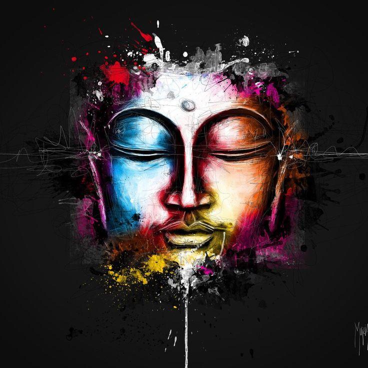 Framelessoil Paintings Canvas Colorful Buddha Sitting Wall: 25+ Best Ideas About Buddha Art On Pinterest