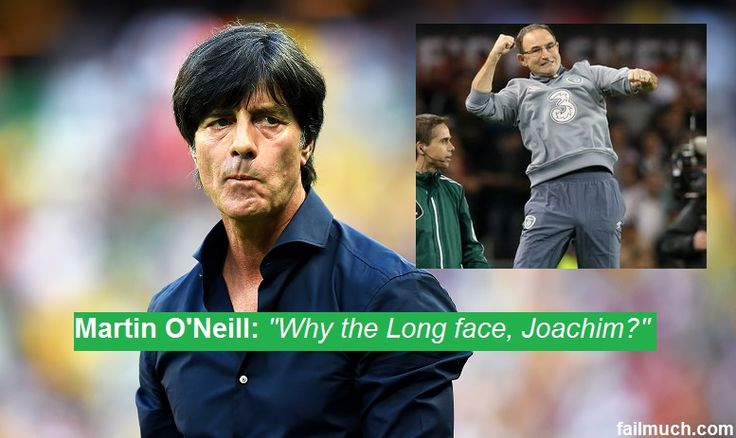 """Low: """"Losing to a team like this is completely unacceptable. I have brought shame to my country. I will resign immediately and return my World Cup medal."""" #COYBIG #IrevGer #ShaneLong #Ireland #repofIreland"""