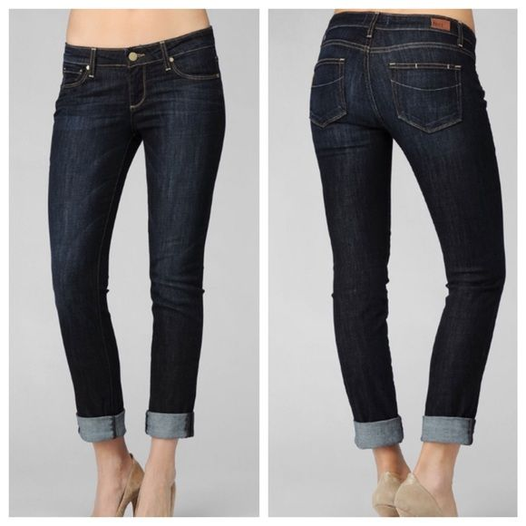Paige JeansSALE Paige jeans. Jimmy Jimmy Skinny. Dark blue wash. Ankle. Perfect cropped in the summer. Size 27. Inseam 26.5. Lightly worn. Paige Jeans Jeans