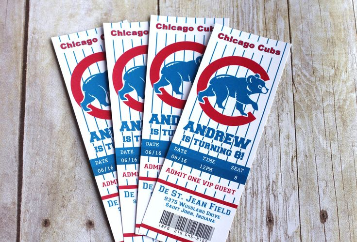 Change To The Sox 10 Printed Baseball Ticket Invitation
