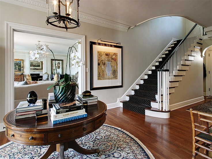Open foyer: Idea, Elegant Entry, Dots Carpets, Seattle Home, Inspiration Entry, House, Hallways Stairca, Homes, Parks Seattle
