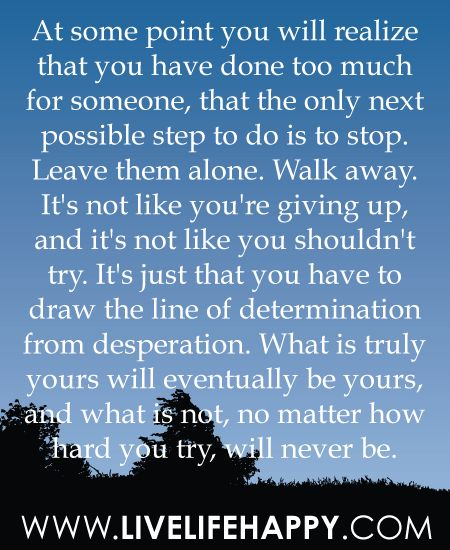 determination from desperation