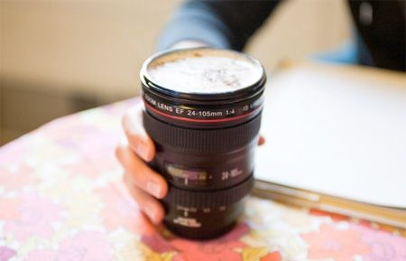 Camera Lens Mug        Realistic Canon lens mug is a must-have for any photographer