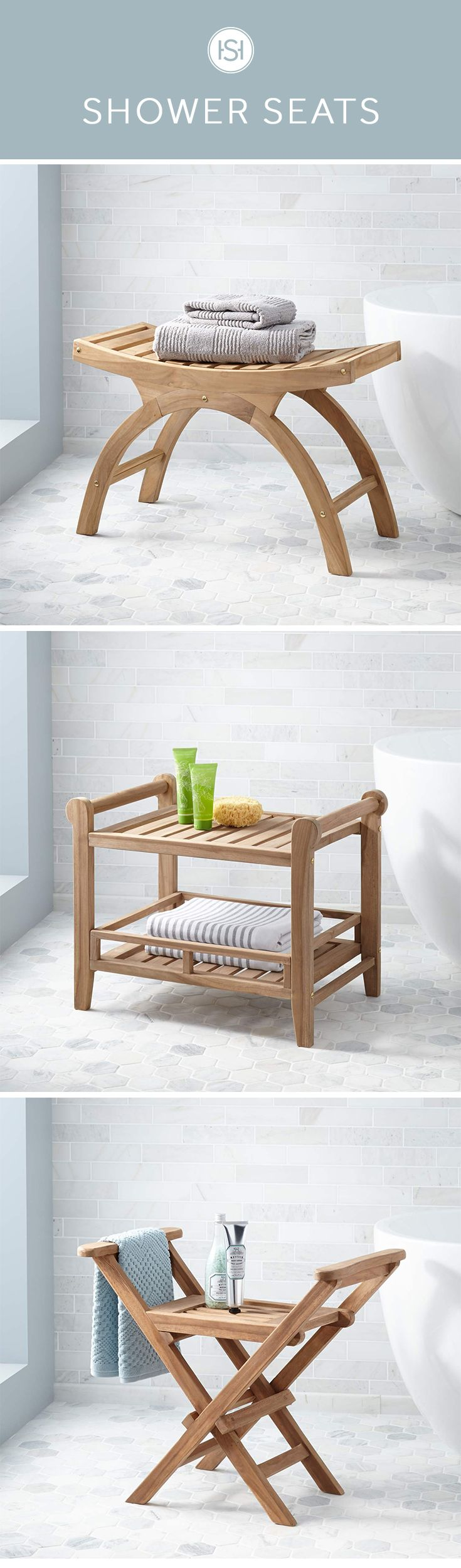 Enjoy the steam of a hot shower a little longer with a functional shower stool or seat. Shop a wide selection from folding seats to resin stools at Signature Hardware.